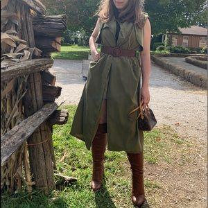 Sleeveless Long Trench Coat Vest